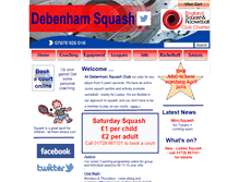 Tablet Preview of debenhamsquash.co.uk
